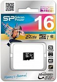 Флеш карта microSD 16GB Silicon Power Elite microSDHC Class 10 UHS-I (SP016GBSTHBU1V10)