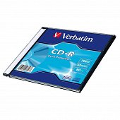 Диск CD-R Verbatim 700 Mb, 52x, Slim Case (1), DL (1/200)